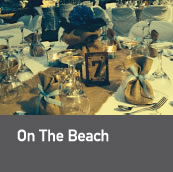 i Do decorations _ on the beach