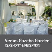 Weddings in Venus Hotel Gazebo
