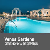 Weddings in Venus Hotel garden